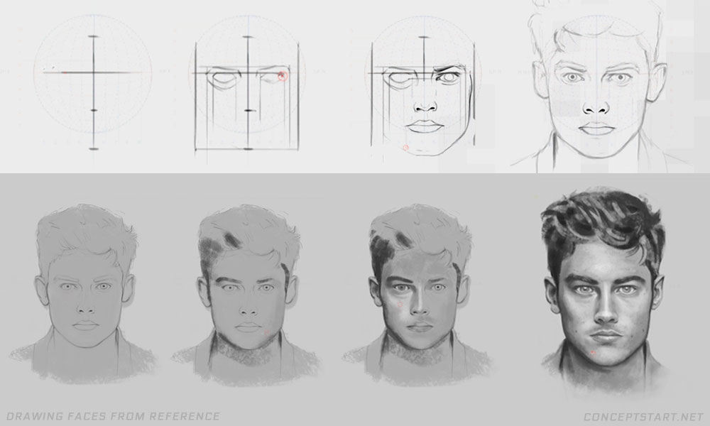 drawing-faces-from-reference
