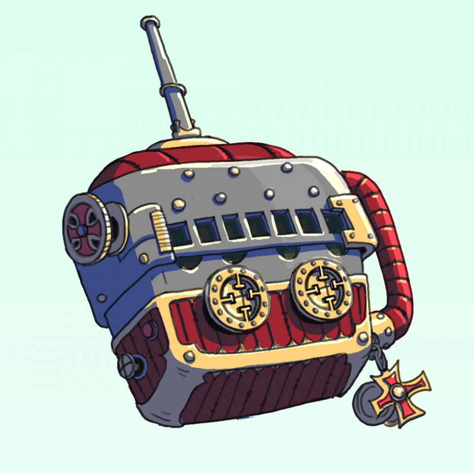 Sci-Fi Prop <br />An ancient Radio Transmitter with a knights templar design theme!