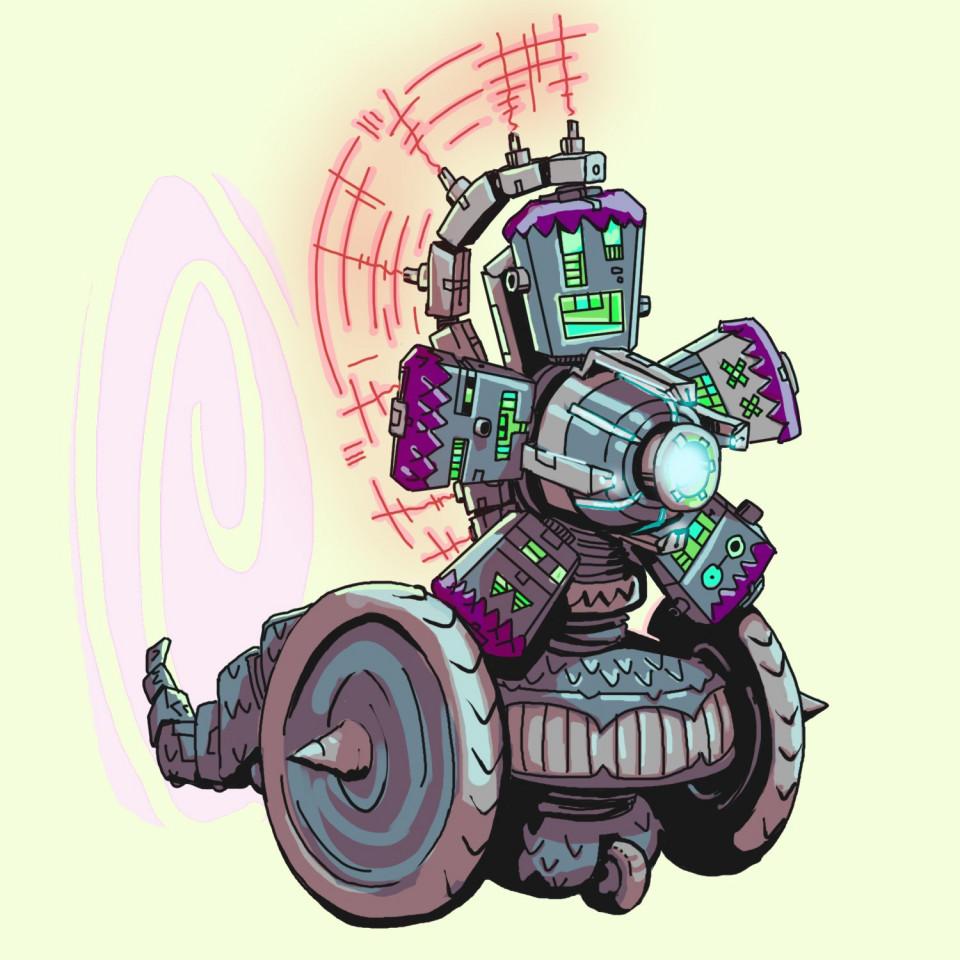 A Modular Gladiator Robot with Dragon Armour and a Portal gun!