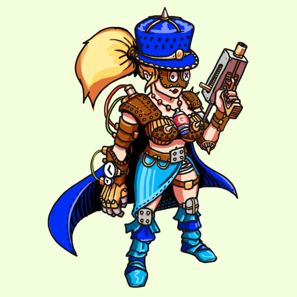 SteamPunk Female Soldier with a twist of Medieval design