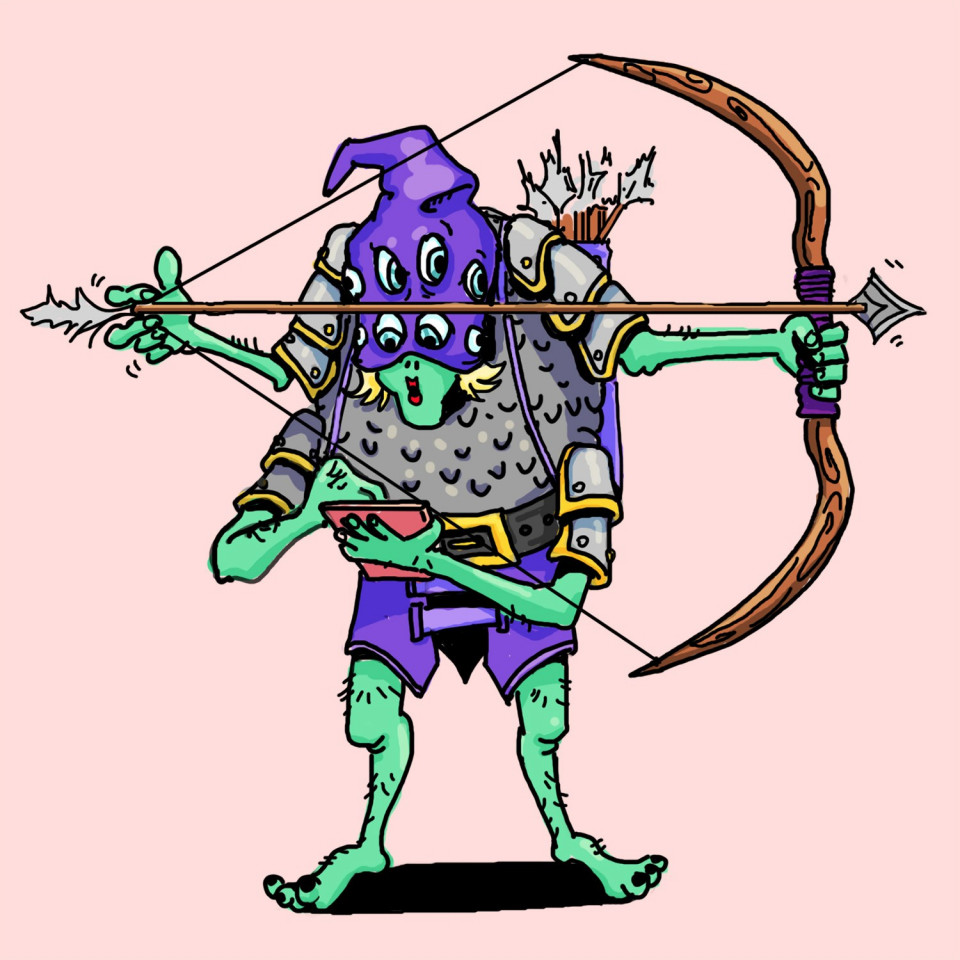 A lady monster Executioner armed with a Bow & Arrow!