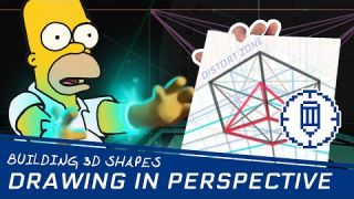 Drawing Tutorial: 3D Shapes in 1, 2 & 3 Point Perspective
